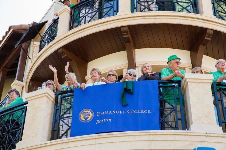 Emmanuel College Alumni St. Patrick's Event | Naples, FL | 3.15.14 - Emmanuel College alumni and guests enjoying the Parade from the Balcony of the Inn on Fifth