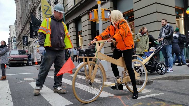 #woodenBicycle #constructionworker #WeNYC #clothes #soho #style #RealNewYorker #fashion #graphic #NYSwagger #ThatsTheWayWeRollupinHere #ColorfulCharacter #streetstyle #OnlyinSoho #onlyinnewyork #SassyStrutter #SassyStyle #punks #neon #florescent #dayglow #tommytees #AManOfTheCloth #aNYthing