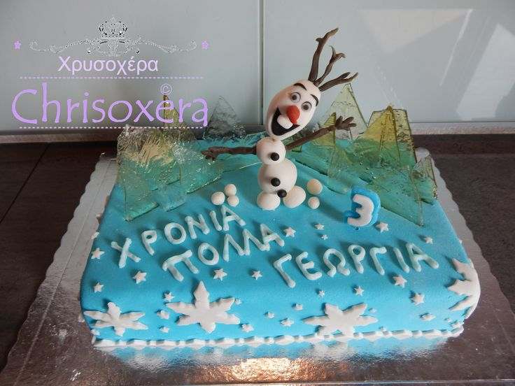 #Frozen #Birthday #Cake #Olaf