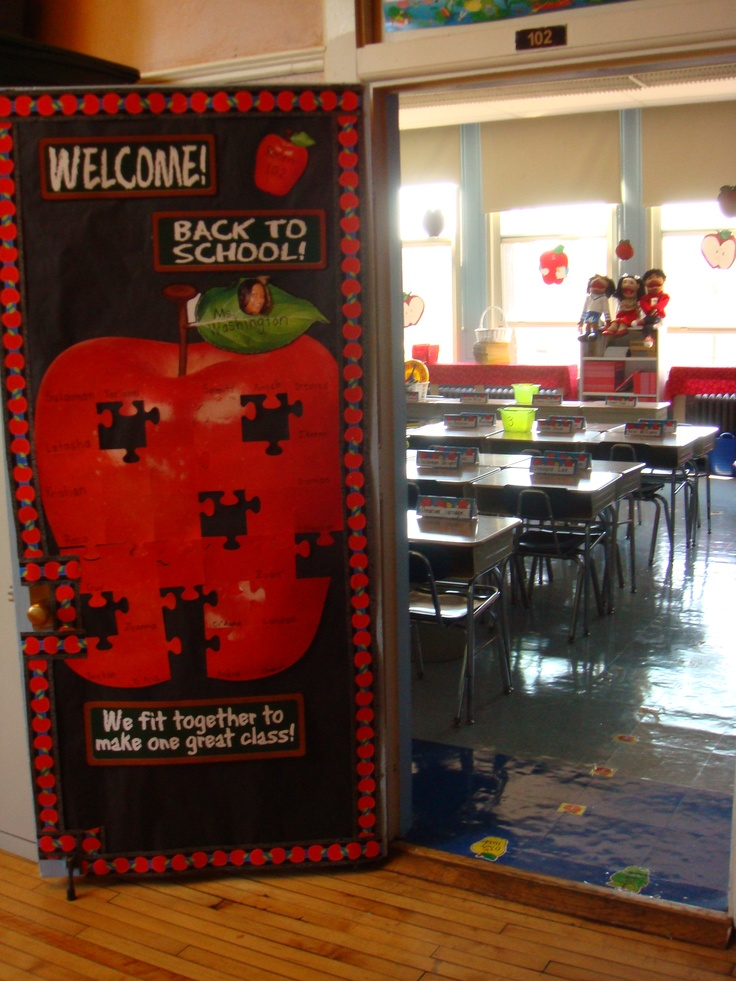 Classroom Decorations Bulletin Boards ~ Apple themed door decor classroom ideas pinterest