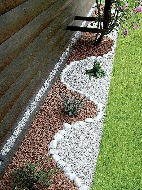 #Backyard designe the idea how to make a nice yard, white brown variant of stones #design