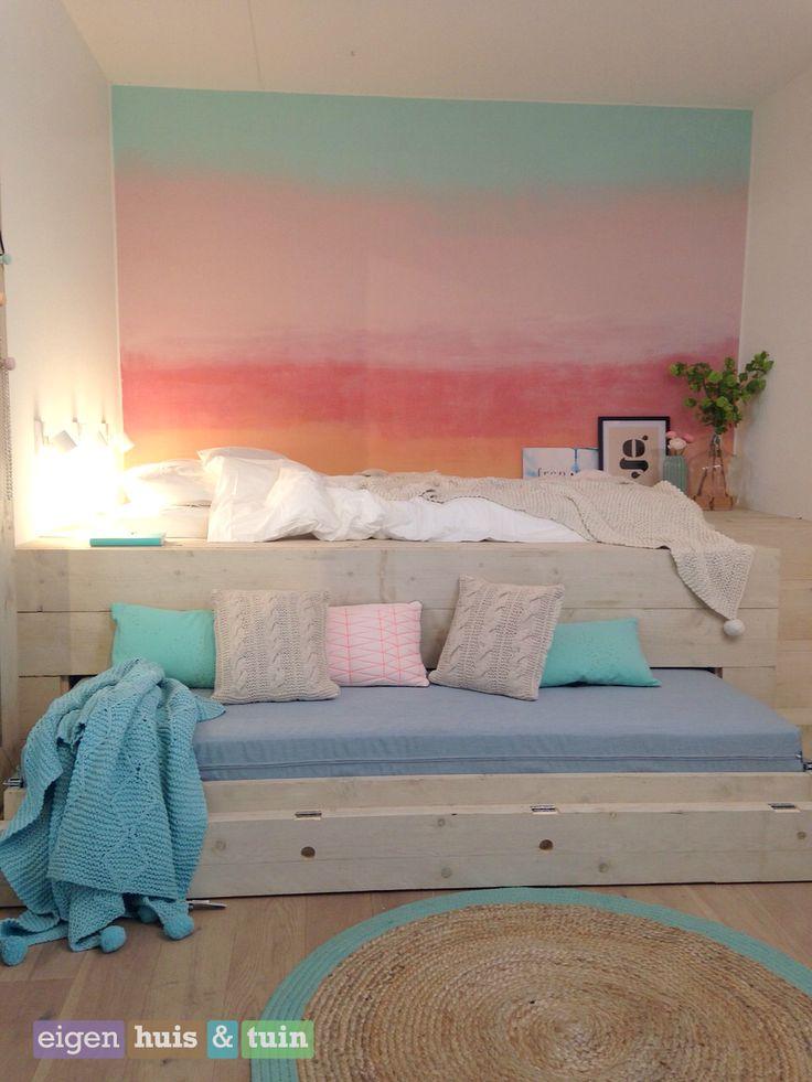 17 beste idee n over tiener slaapkamer kleuren op pinterest college meisje slaapkamers droom - Slaapkamer van een meisje ...