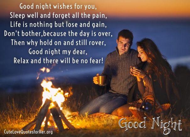 Short Good Night Poems For Girlfriend