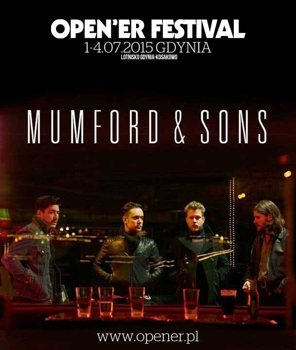Mumford & Sons kolejnym headlinerem Open'era!