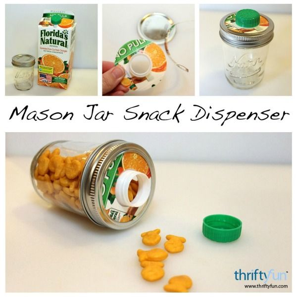 This is a guide about making a Mason jar snack container. Mason jars have so many uses in addition to the original one of canning.