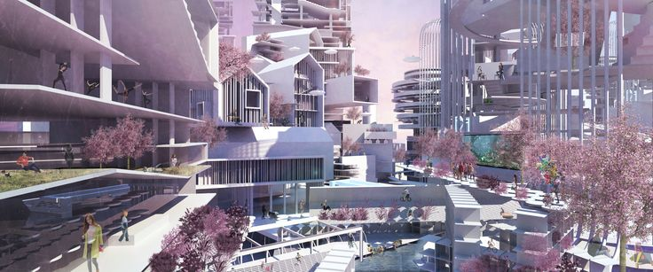 MSD M.Arch S1/16 Sophie Farmer and Bi Wang. Studio 05 X-Ray the City 2046. Diversity as Density - Speculative Future City Proposal for Melbourne 2046 exhibited as part of MSD's Future Factory at Venice Biennale 2016. Studio Leader: Justyna Karakiewicz.