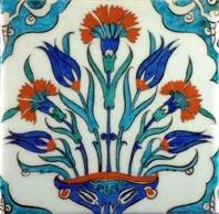 A sample of Iznik pottery from Turkey - lovely!