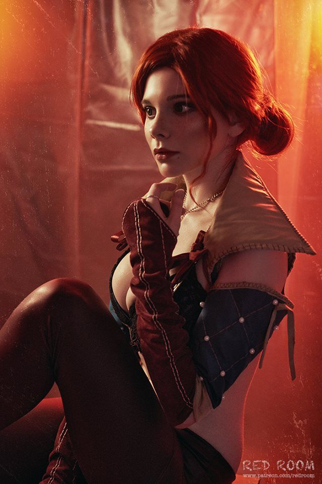 Triss Merigold from The Witcher by Reilin Cosplay @ facebook.com/ReilinCosplay - More at https://www.pinterest.com/SuperGirlsCosplay #reilincosplay #aleksandra #reil #aleksandrareil #hot #sexy #cosplay #girl #cosplaygirl #trissmerigold #thewitcher