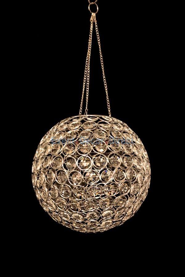 Acrylic Crystal Hanging Globe Light Event Decor Direct
