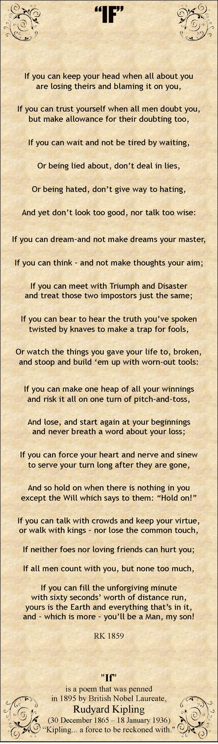 17 best ideas about rudyard kipling rudyard kipling if by rudyard kipling this was in my home when i was growing