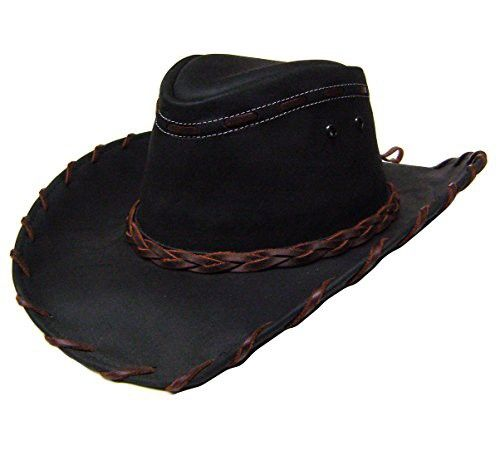 fbead97158e Modestone Unisex Leather Cowboy Hat Lacing