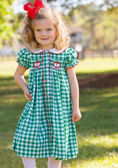 Apple Chest Smocked Dress