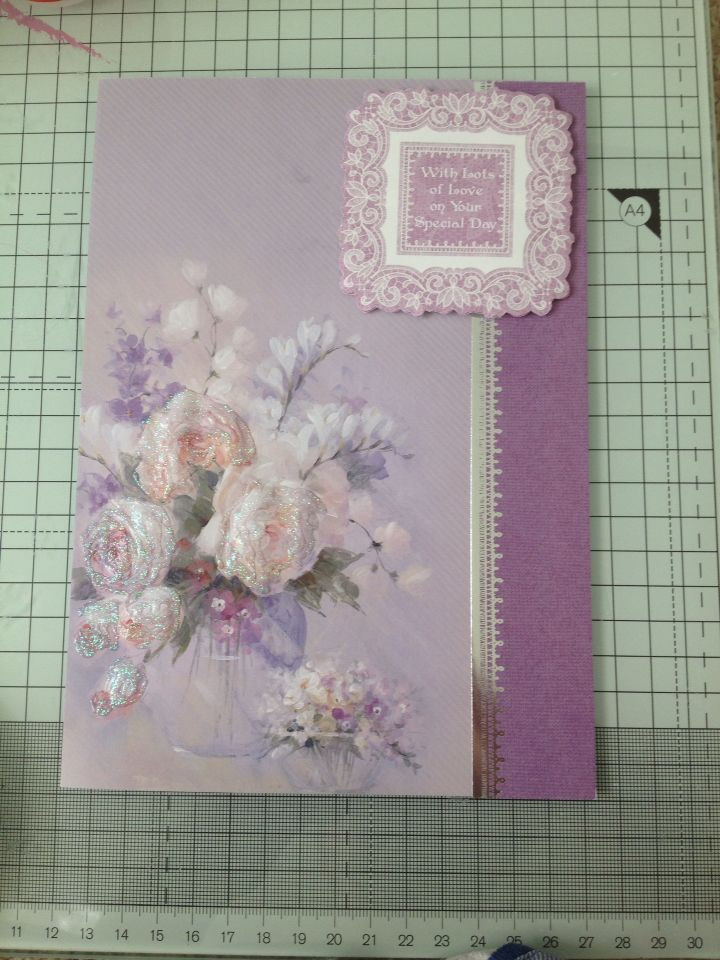 From the Hunkydory frosted florals paper pad