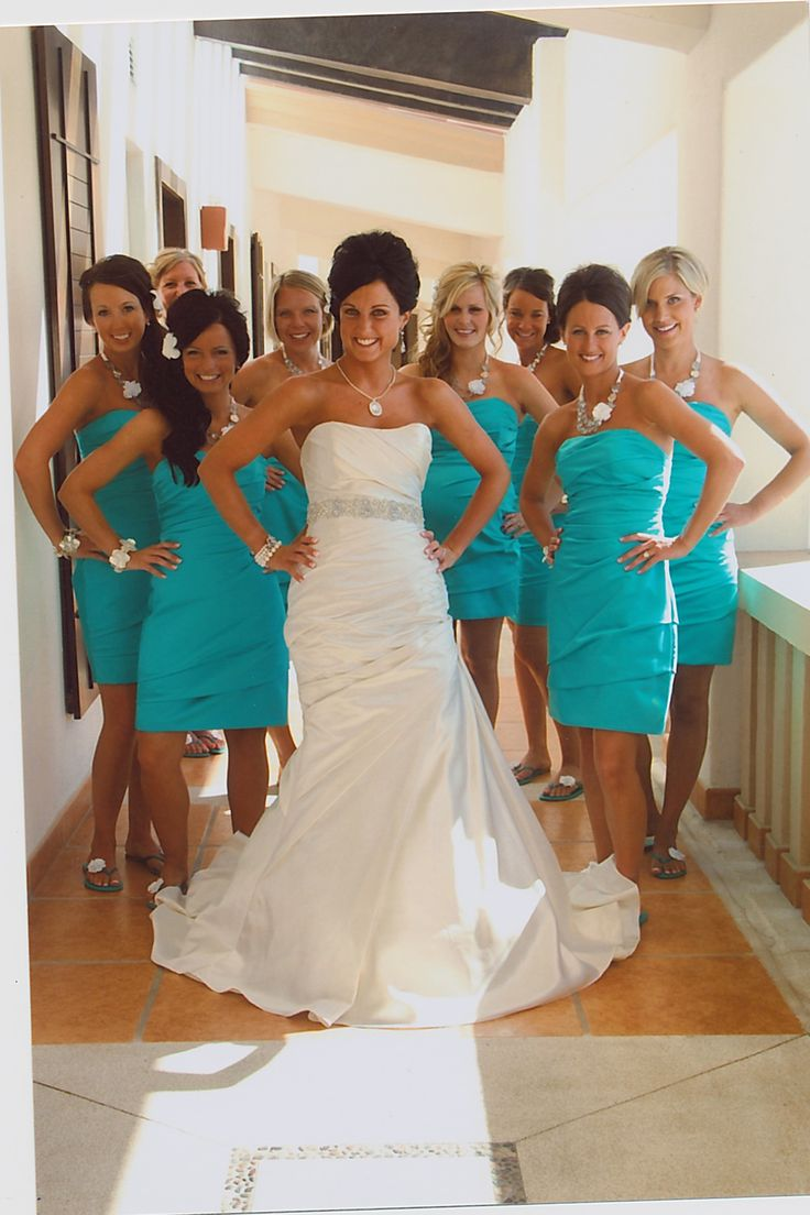 10 best jessies wedding moh duties images on pinterest beach i love these colors together in our brides tropical wedding ombrellifo Choice Image