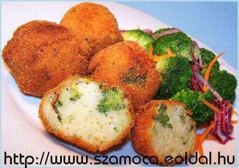 BURGONYAFASÍRT SAJTTAL ÉS BROKKOLIVAL POTATO meatloaf with cheese and broccoli