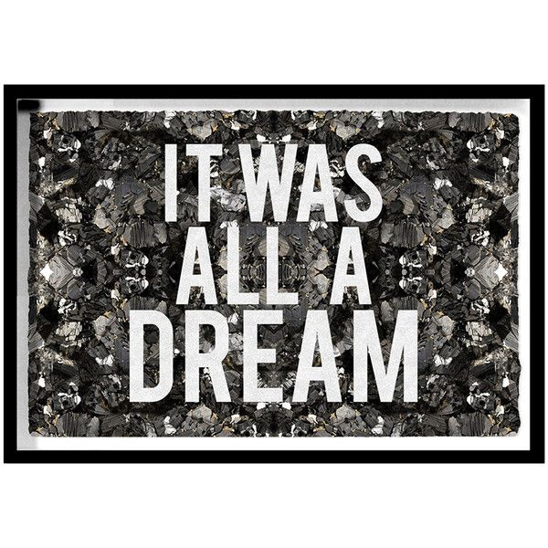 The Oliver Gal Artist Co. All A Dream Framed Art with Glitter Detail ($955) ❤ liked on Polyvore featuring home, home decor, wall art, backgrounds, art, filler, framed wall art, quote wall art, typography wall art and word wall art