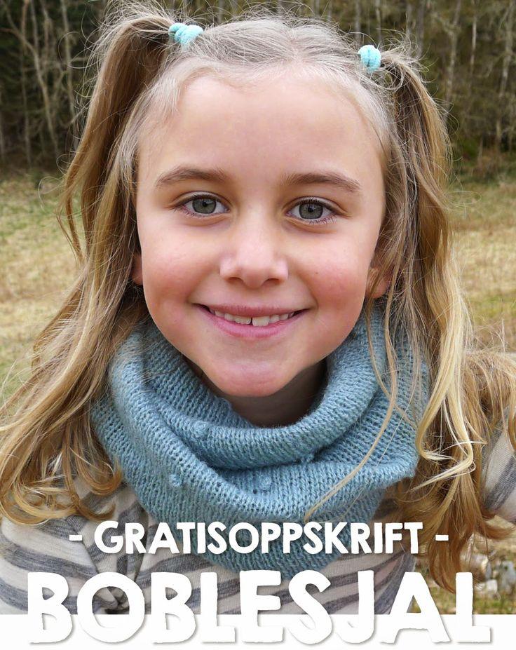Gratis strikkeoppskrift : Boblesjal | Nøsteblogg - Nøstebarns blogg