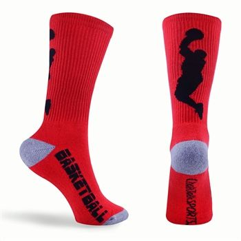 Our basketball player crew sock is the top choice for basketball players. We design our socks with high tech function, comfort and style. Our poly/nylon moiture wicking blend is soft yet strong on performance and it dries measurably faster than cotton.