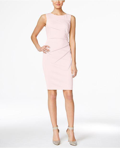 a9c3fcfeeff Calvin Klein Petite Starburst Sheath Dress - Black 12P