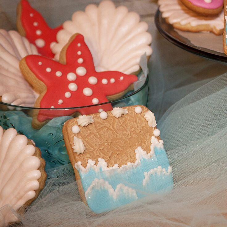 Under the sea cookies- Starfish, Shell and Beach Scene