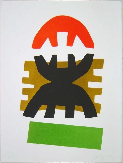 Giuseppe Capogrossi. Great contemporary artist: http://it.wikipedia.org/wiki/Giuseppe_Capogrossi