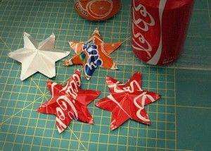 stelle di Natale con le lattine