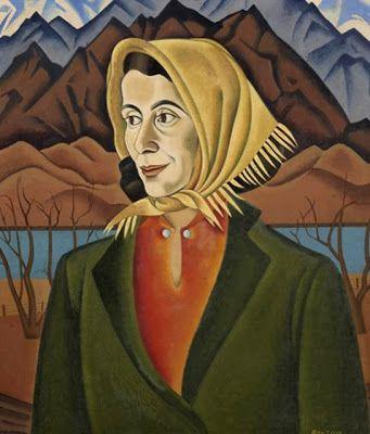 """Majorie Marshall"" 1938-9 by Rita Angus (1908 - 1970)"