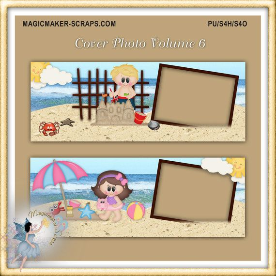 Facebook Timeline Cover Photo Vol. 6 Beach by MagicmakerScraps, $1.00