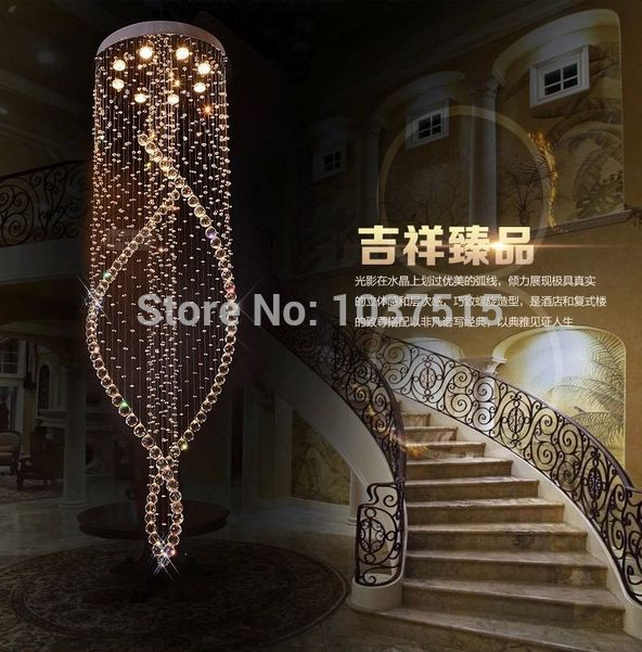 Gratis verzending glans moderne k9 kristallen kroonluchter met 110-240v d60*h200cm witte kroonluchter decoratie lampen 100 % guanrantee