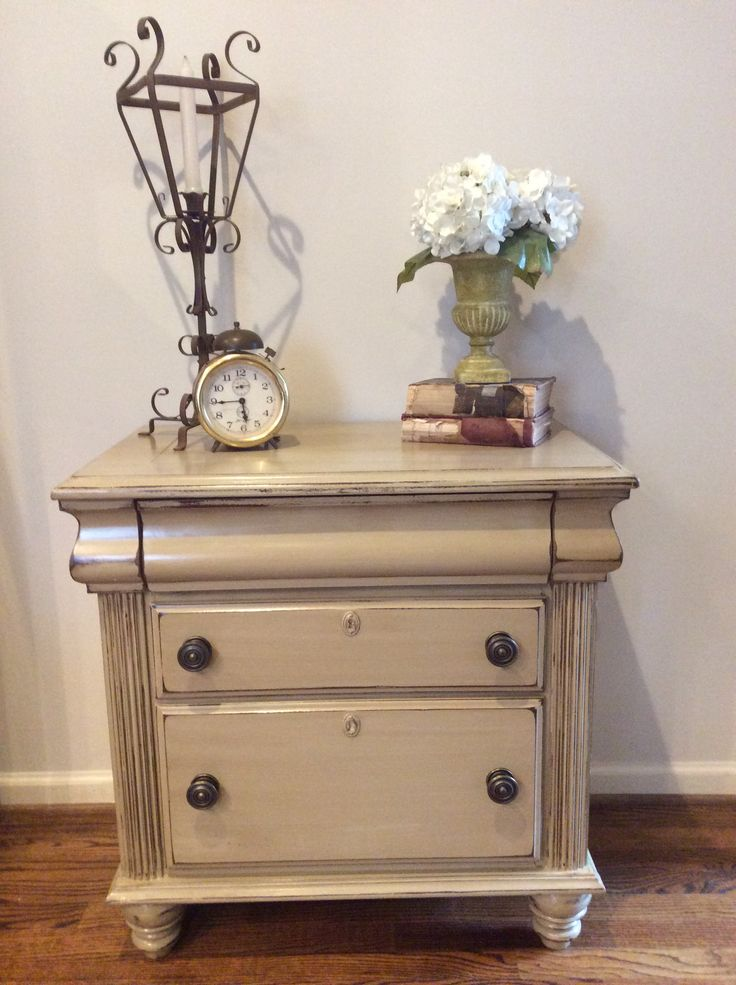 Best Tan Nightstand With Brown Glaze Redo Furniture Painted 400 x 300