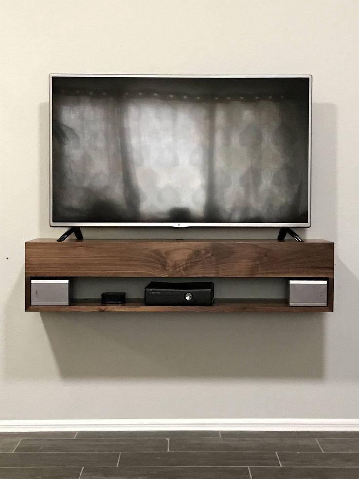 Solid Walnut Tv Console Walnut Floating Tv Console