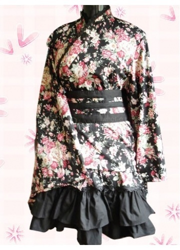 Gothic Lolita Dress.: Ninjas Maids, Cotton Gothic, Lolita Dresses, Gothic Lolita, Floral Ninjas, Wa Lolita, Products, Lolita Clothing, Black Floral