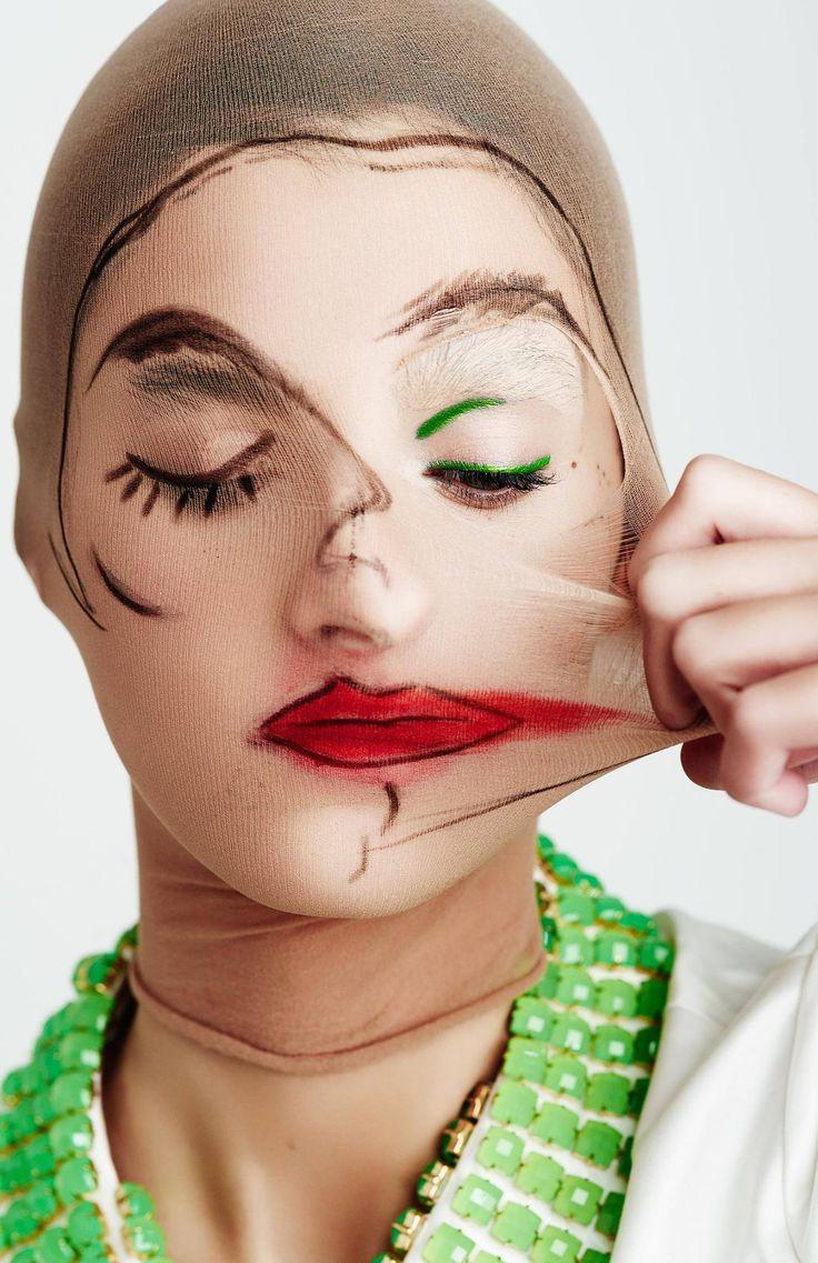 Two-faced beauty  schonmagazine.com/messy-beauty/ #SchonMagazine – Majohli