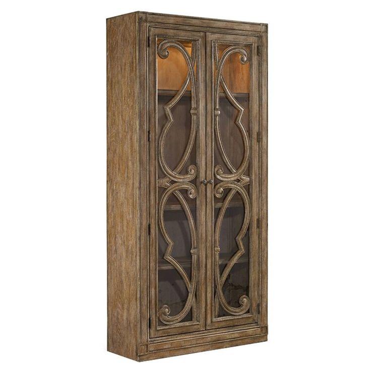 hooker furniture solana dining curio cabinet natural