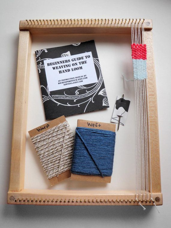 Learn to weave with this handmade loom.
