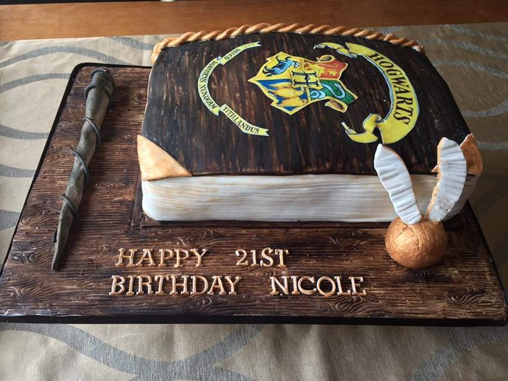 https://flic.kr/p/LVYbrd | 14449831_1544024472289724_3189930614979878125_n | Harry Potter book cake