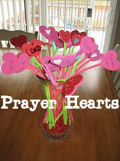 Prayer Hearts (Great Craft Idea with Your Children and Great Prayer Reminder)