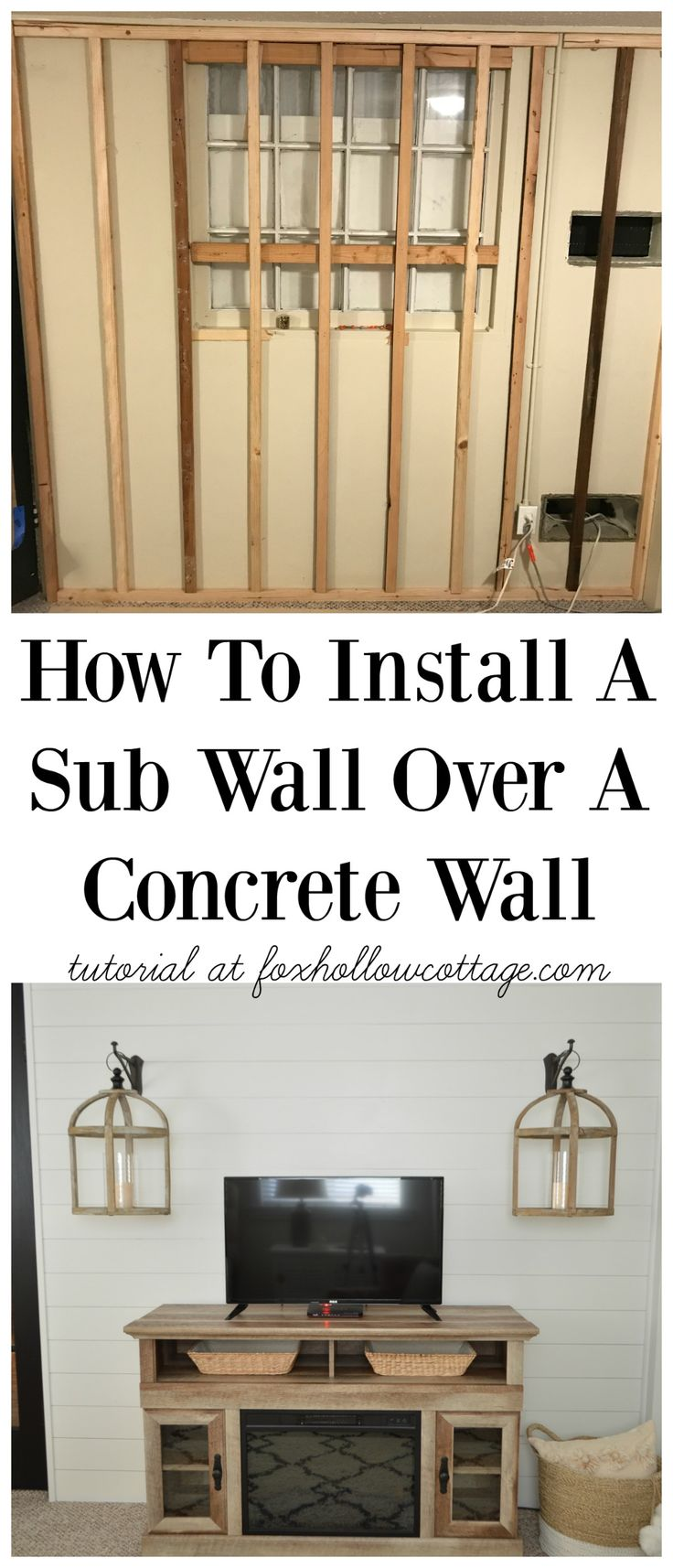 How To Install Shiplap Over A Concrete Wall Installing