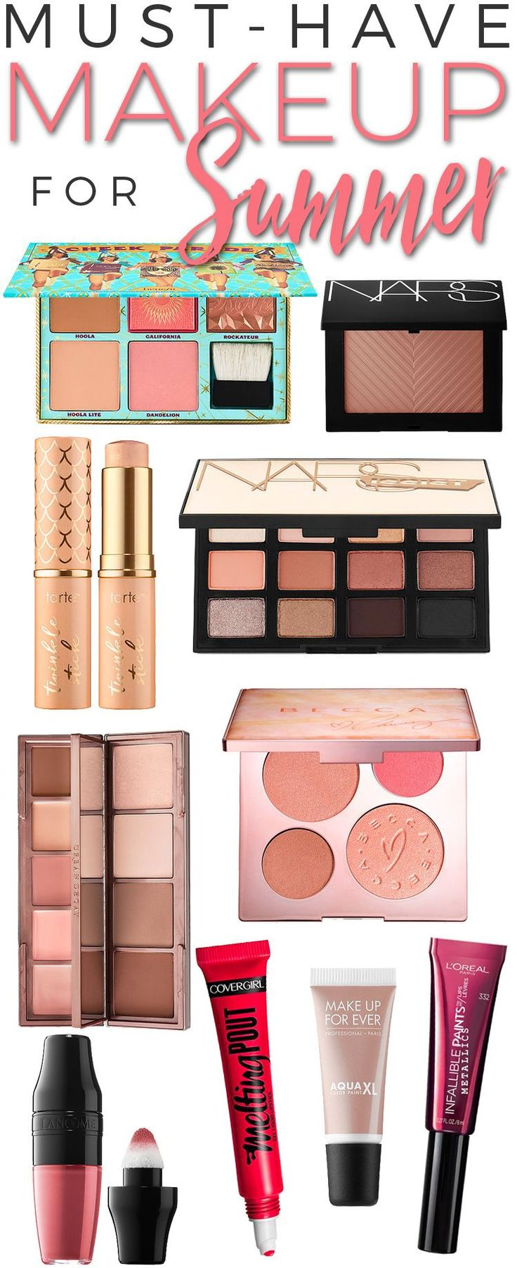 It's time for new makeup — new summer makeup, that is. With all of the new  summer makeup launches, it is very easy to get confused as to which  products you need and need now for your summer makeup bag. Whether you are  looking for a new lip color, face palette, bronzer or eye shadow, I have  y