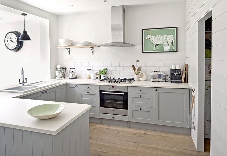 U Shaped Kitchen. Design Item: Kitchen Of The Week: Serene, Painted And Grey  Daines_Kitchen Niall McDiarmid