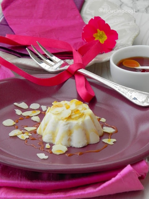 Antipasto: budino di parmigiano e mandorle!