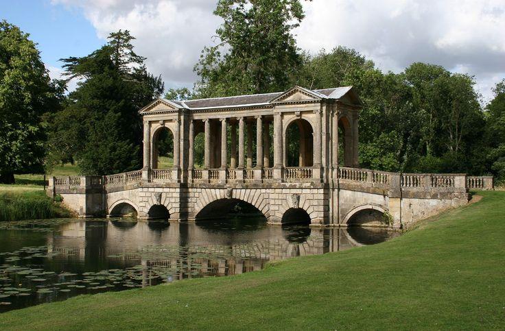 Stowe Park Palladian bridge - Stowe House – Wikipédia, a enciclopédia livre