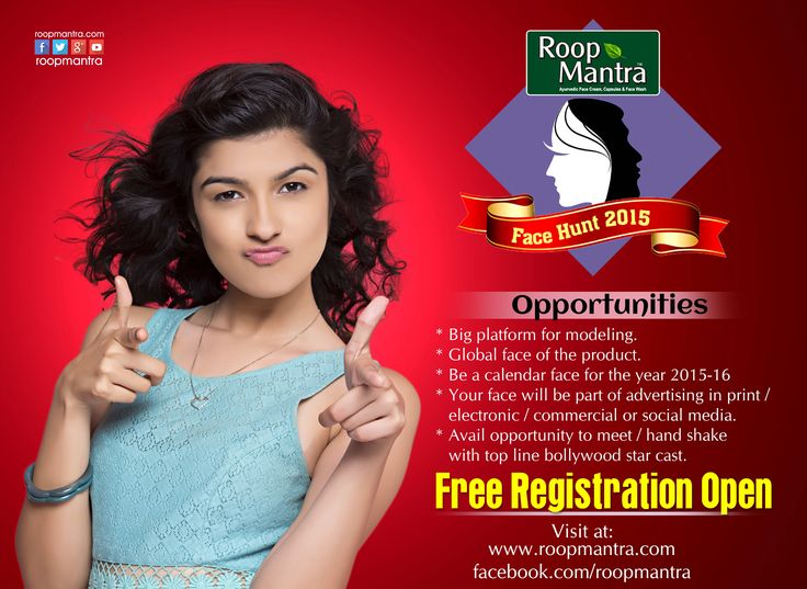 Participate Now: Roopmantra Face Hunt 2015 Contest For free online registration visit @ roopmantra.com/... Use this Tag : #RoopmantraFaceHunt Follow Us: bit.ly/1CPmIjs Pin & Share the contest with your friends too.  *Terms & Conditions Apply