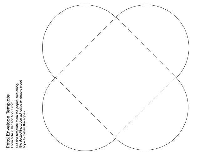 This Free Printable PDF Template Will Make a Pretty Petal Envelope: Petal Envlope Template