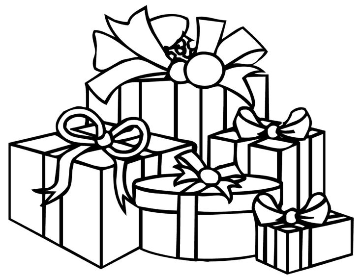 21 best Coloring: Gifts images on Pinterest   Christmas presents ...