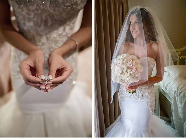 Fashion-Inspired Wedding in Melbourne, Australia - Be inspired by Vicki & Stephen's luxurious and fashionable wedding in Melbourne, Australia #wedding #luxury #couture #fashion #inspired #melbourne #australia #greek #orthodox #ring #veil #bouquet #dress #bride