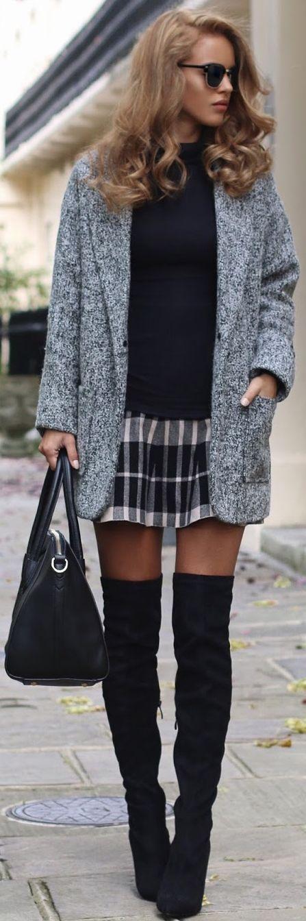 Grey Textured Blazer / fall fashion Inspiration.