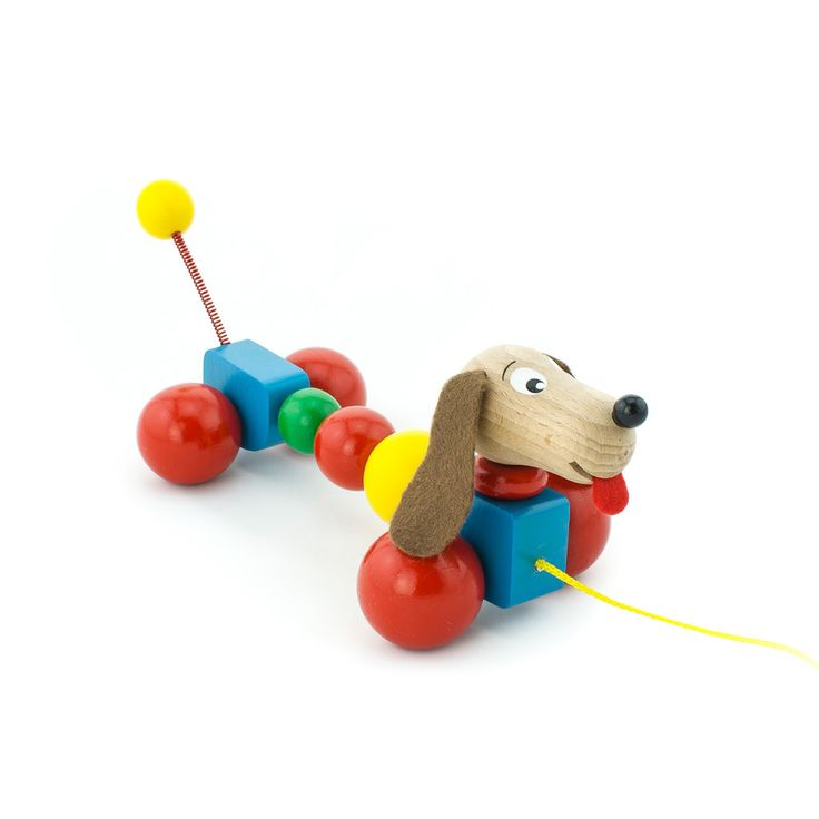 Wooden Pull Along Puppy Dog – Baxter