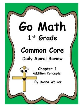 Designed for Harcourt's Go Math, but can be used with any CCSS first grade math series.