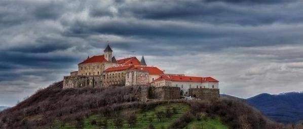 Palanok Castle in Mukachevo, Ukraine